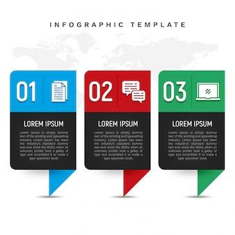Modelo de infográfico colorido no estilo de banner
