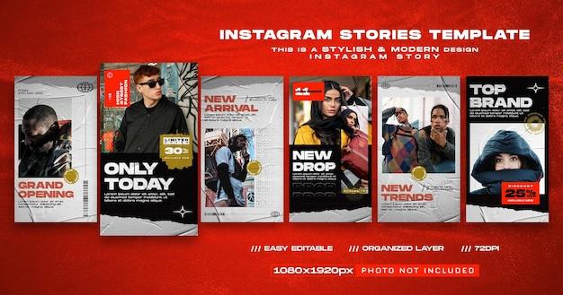 Modelo de instagram de história de mídia social de grande inauguração