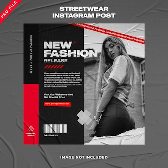 Modelo de instagram de mídia social de moda urbana