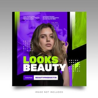 Modelo de instagram moderno brilhante futurista de mídia social