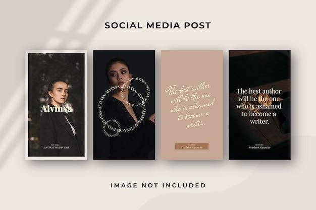 Modelo de instagram para história de mídia social quadrada