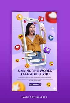 Modelo de instagram para workshop de streaming ao vivo de conceito criativo
