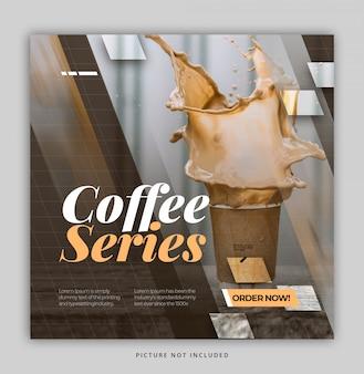 Modelo de instagrama de café alimentar