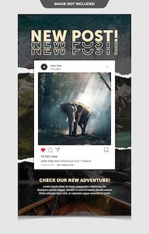 Modelo de interface para postagem no instagram