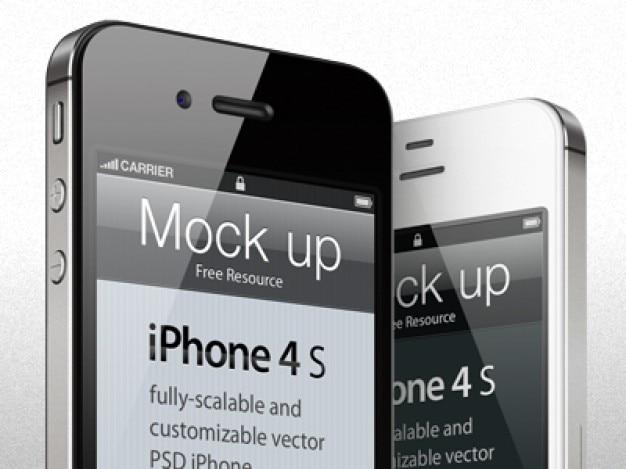 Modelo de iphone s psd mock up freebie