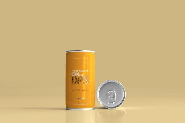 Modelo de lata de alumínio 180ml isolado