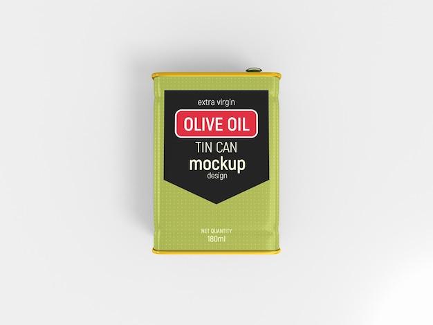 Modelo de lata de azeite de oliva