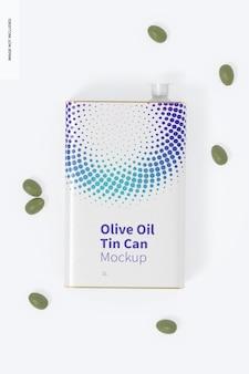 Modelo de lata retangular de azeite de oliva de 1 litro