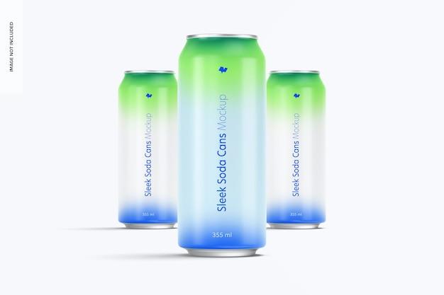 Modelo de latas de refrigerante 355 ml, vista frontal