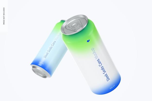 Modelo de latas de refrigerante de 355 ml, flutuante