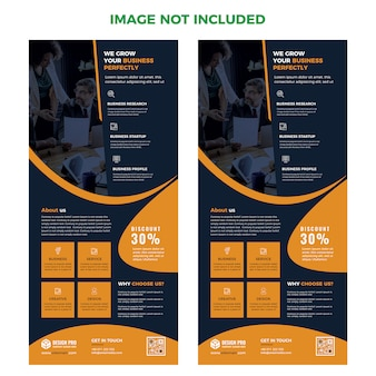 Modelo de layout de página da web de aterrissagem psd design