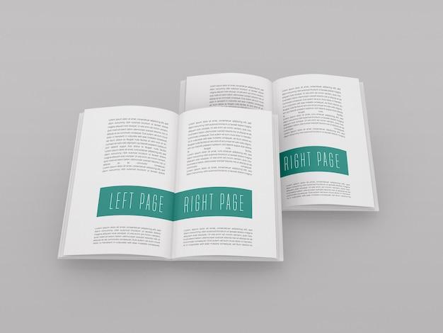 Modelo de livro aberto