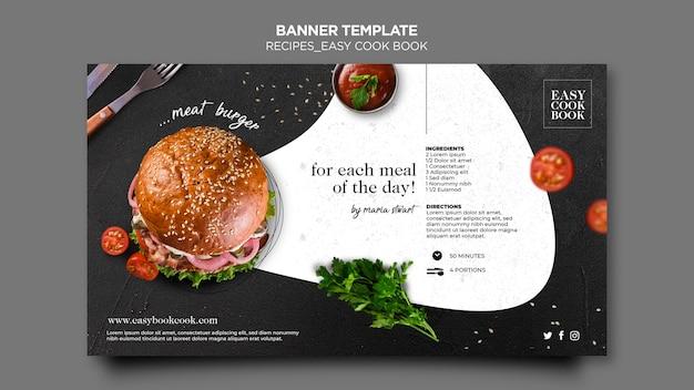 Modelo de livro de culinária de banner