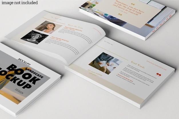 Modelo de livro de paisagem