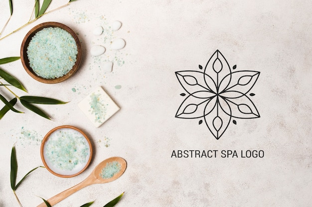 Modelo de logotipo abstrato spa