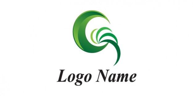Modelo de logotipo da empresa lua verde