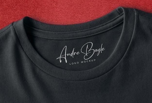 Modelo de logotipo da marca de camiseta preta