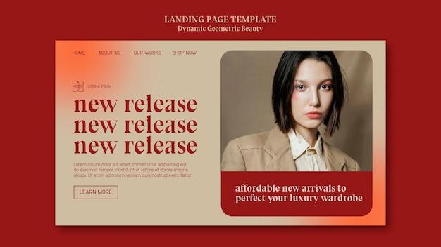 Modelo de loja de beleza de luxo para página de destino