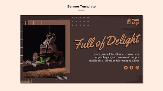 Modelo de loja de chocolate banner