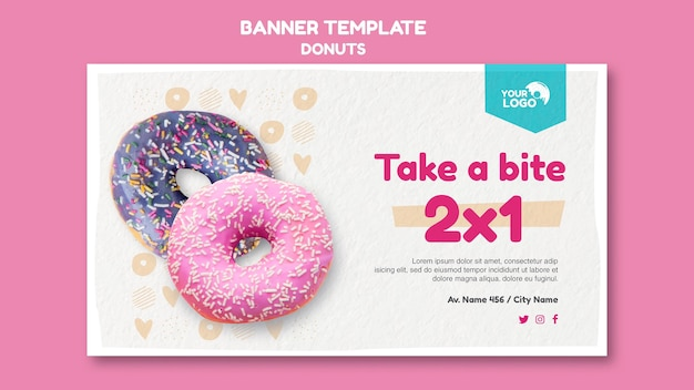 Modelo de loja de donuts banner