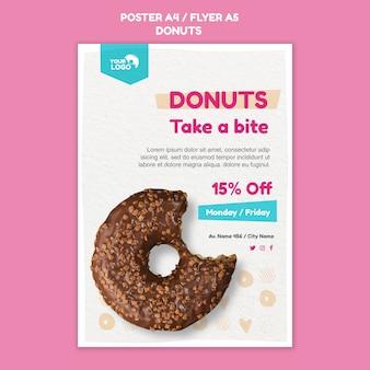 Modelo de loja de donuts de pôster