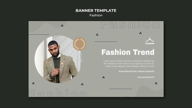 Modelo de loja de moda em banner