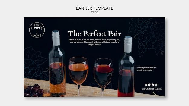Modelo de loja de vinhos de banner