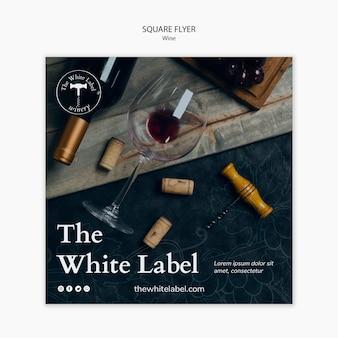 Modelo de loja de vinhos panfleto quadrado