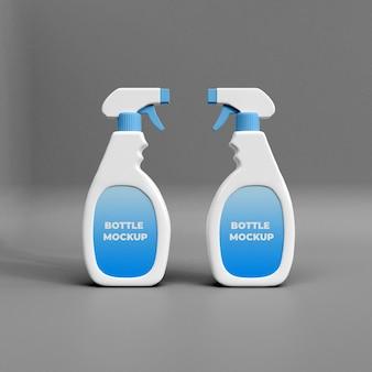 Modelo de maquete 3d de spray de limpeza