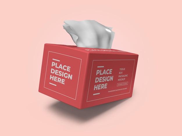 Modelo de maquete 3d para embalagem de lenços de papel psd