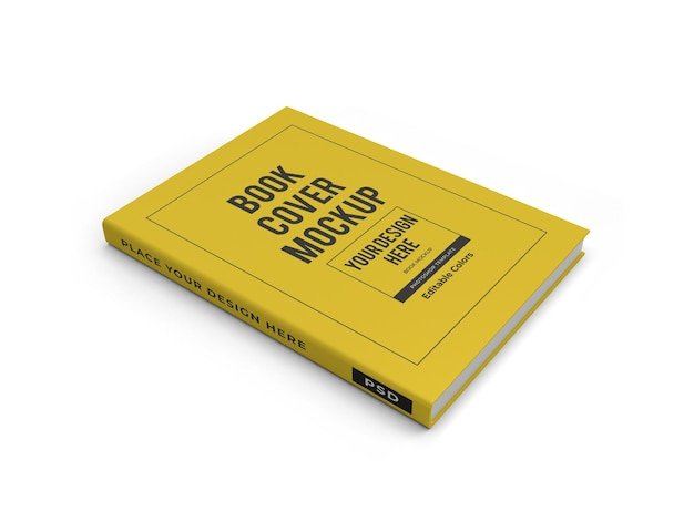 Modelo de maquete 3d realista da capa do livro isolado