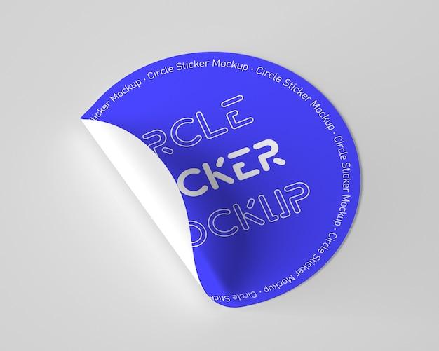Modelo de maquete de adesivo circular