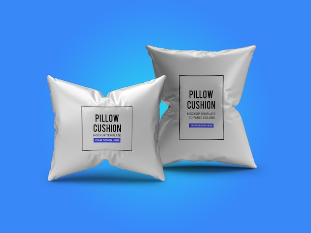 Modelo de maquete de almofada de travesseiro psd