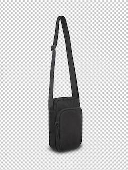 Modelo de maquete de bolsa de bolso preto para seu projeto.