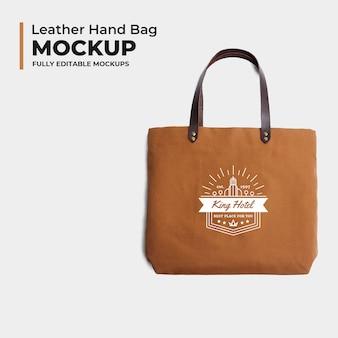 Modelo de maquete de bolsa de couro