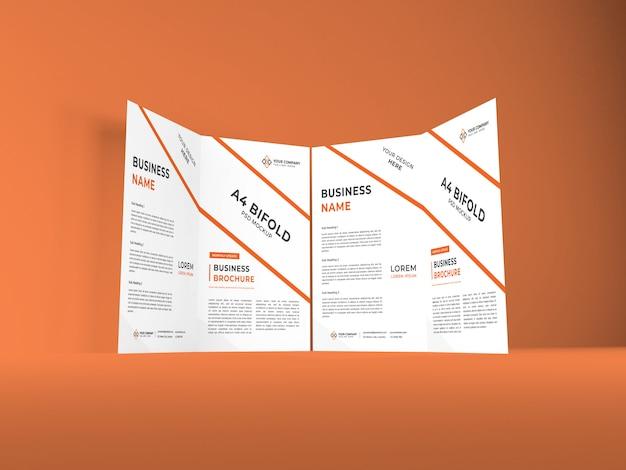 Modelo de maquete de brochura a4 bifold realista