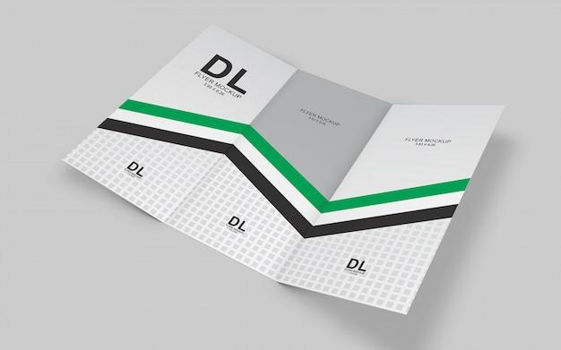 Modelo de maquete de brochura com três dobras