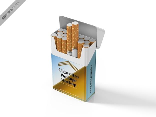 Modelo de maquete de caixa de cigarro