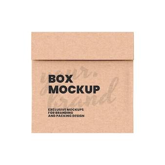 Modelo de maquete de caixa de papelão