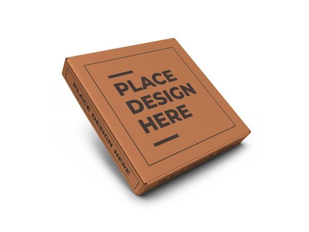 Modelo de maquete de caixa de pizza realista isolado