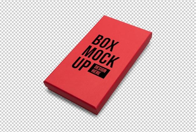 Modelo de maquete de caixa de presente vermelha