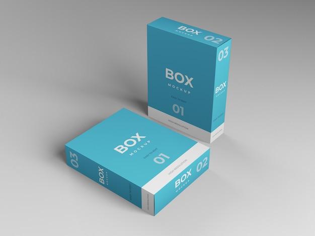 Modelo de maquete de caixa