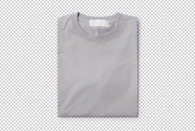 Modelo de maquete de camiseta dobrada cinza para seu projeto.
