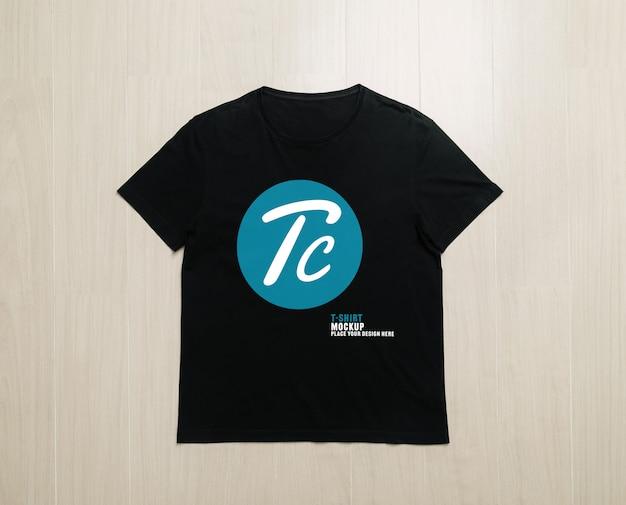 Modelo de maquete de camisetas pretas para seu projeto