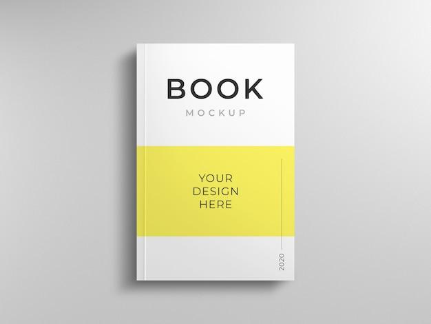 Modelo de maquete de capa de livro