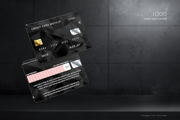 Modelo de maquete de cartão de crédito e débito premium Psd Premium