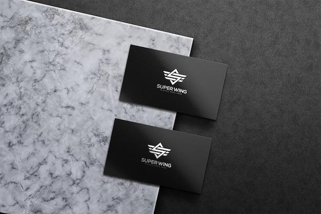 Modelo de maquete de cartão de visita de luxo