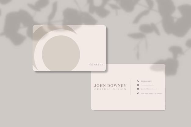 Modelo de maquete de cartão de visita moderno. para apresentação de marca, identidade corporativa, publicidade