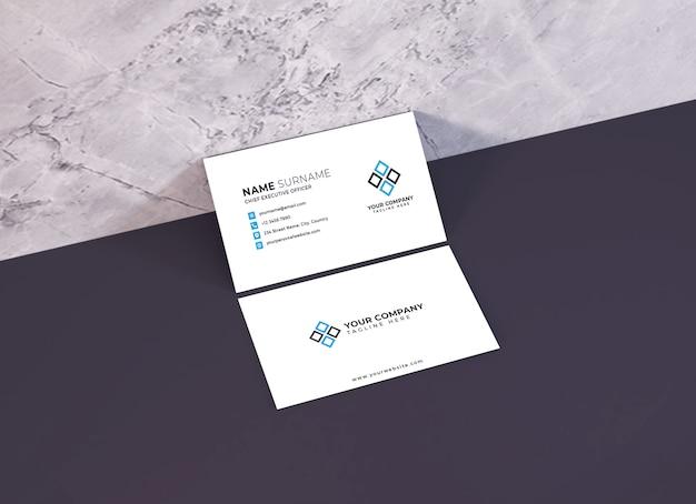 Modelo de maquete de cartão de visita realista psd