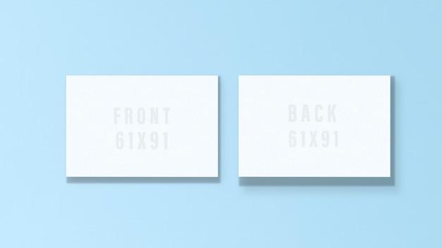 Modelo de maquete de cartão em branco com sombra.
